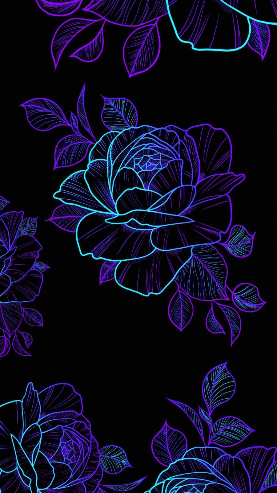 Amoled Roses iPhone Wallpaper