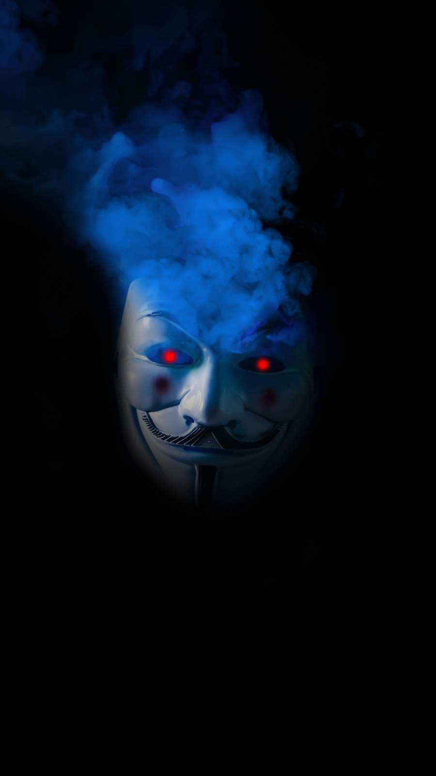 Anonymous Mask Smoke iPhone Wallpaper