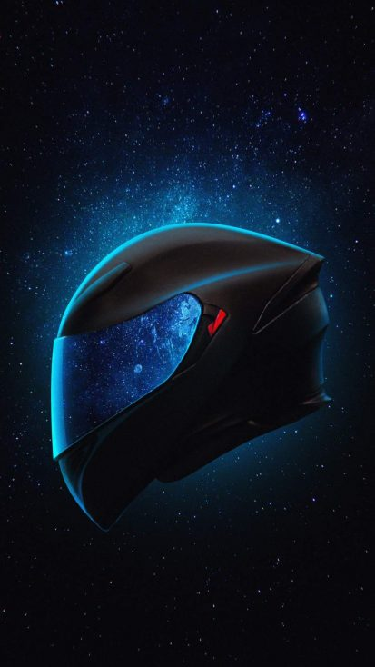 Biker Helmet iPhone Wallpaper