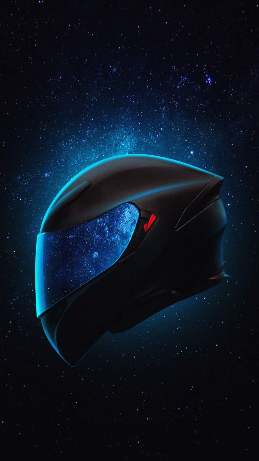 Biker Helmet iPhone Wallpaper