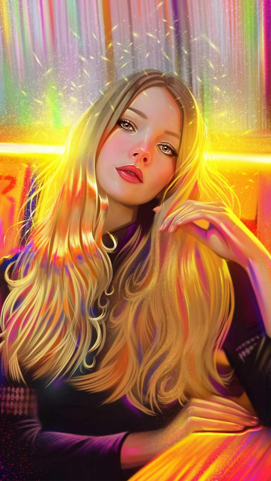 Blonde Girl Beautiful Art
