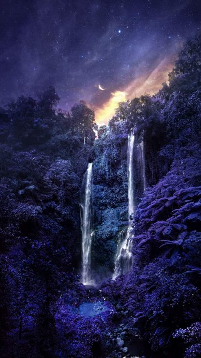 Blue Forest Waterfall