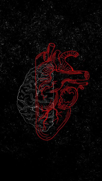 Brain vs Heart Art