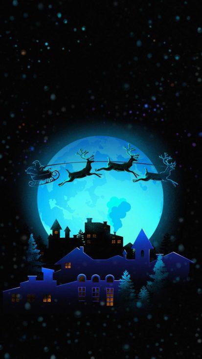 Christmas Moon Art
