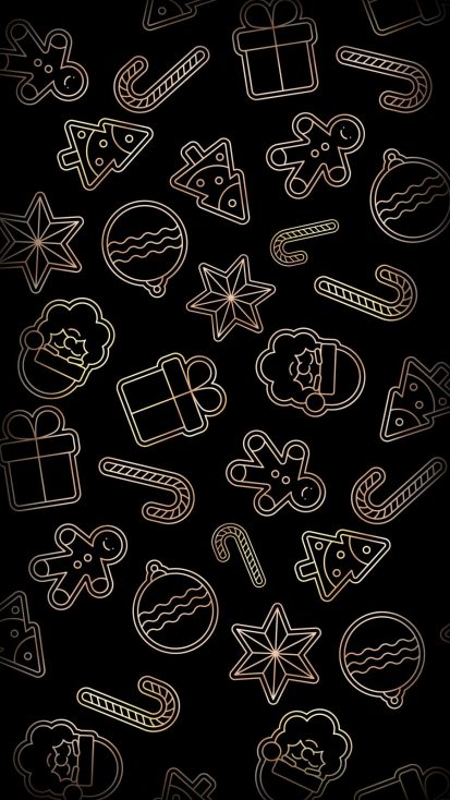 Christmas Pattern iPhone Wallpaper