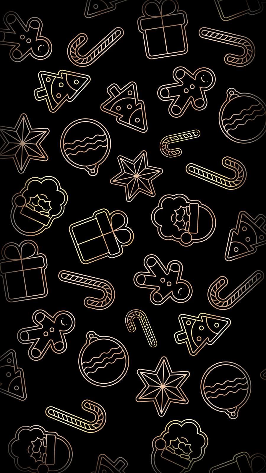 Christmas Pattern iPhone Wallpaper