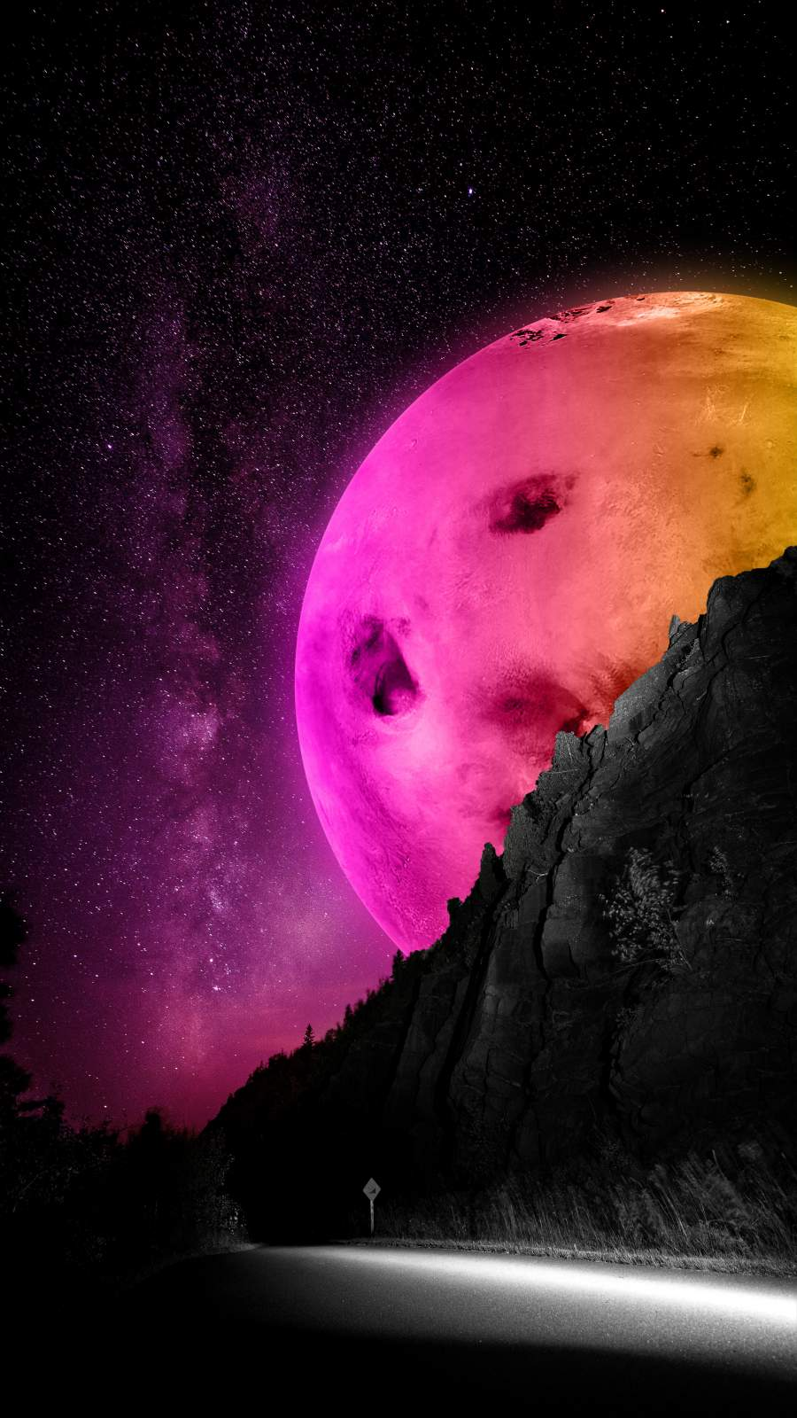 Colorful Moon iPhone Wallpaper