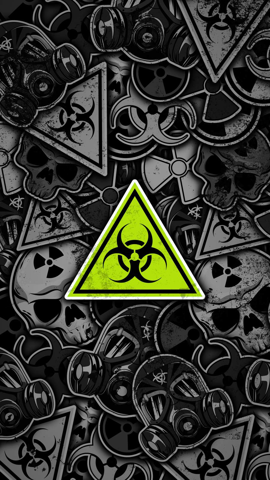 Danger Warning Signs iPhone Wallpaper