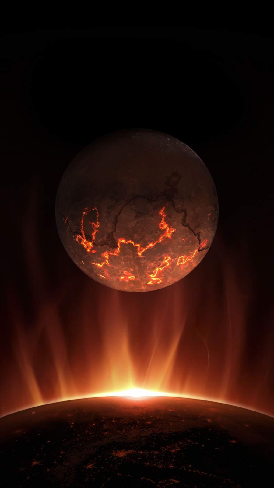 Dead Moon iPhone Wallpaper