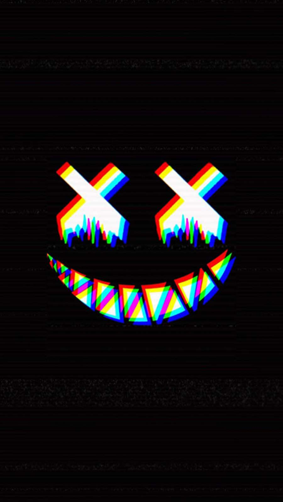 Dead Smile Glitch iPhone Wallpaper