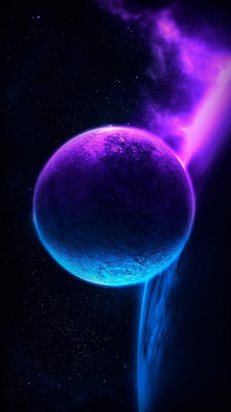 Deep Space Planet Glow