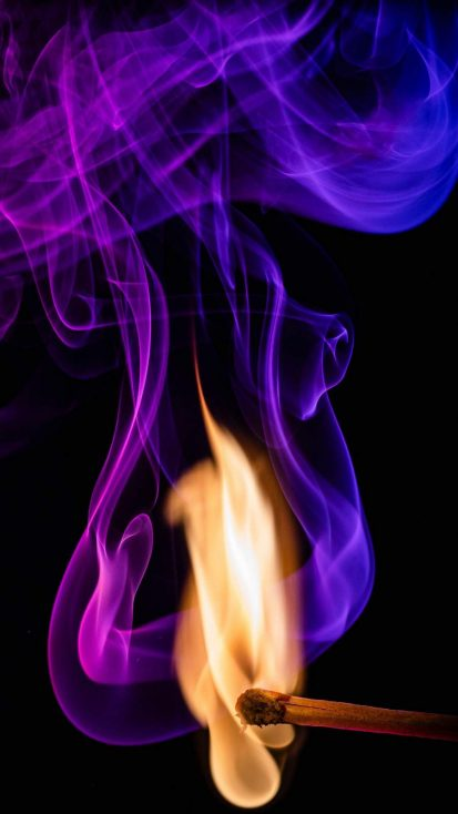 Flame Smoke iPhone Wallpaper