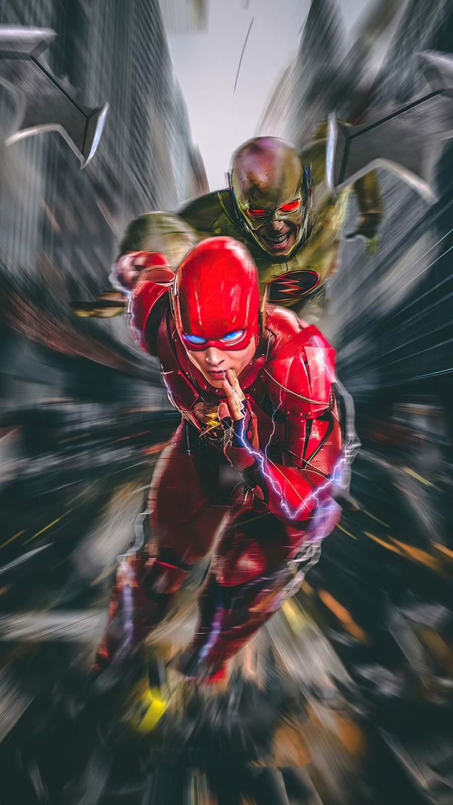 Flash vs Zoom iPhone Wallpaper