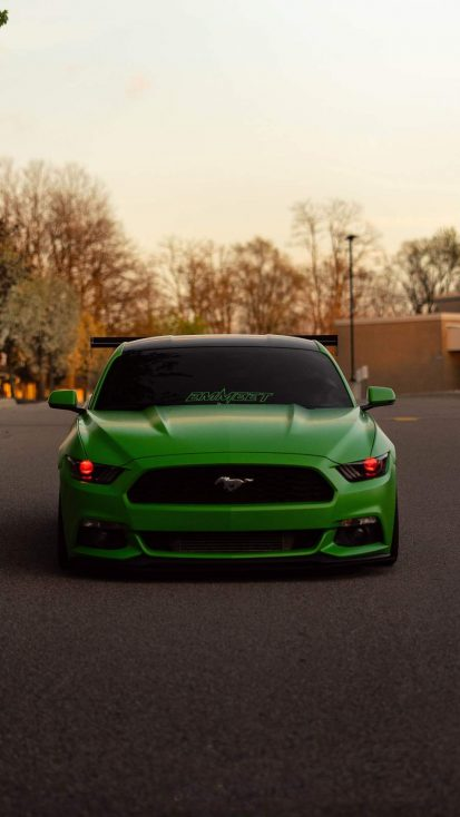 Ford Mustang Green iPhone Wallpaper