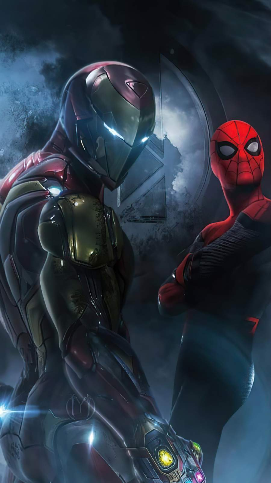 Future Iron Man and Spiderman