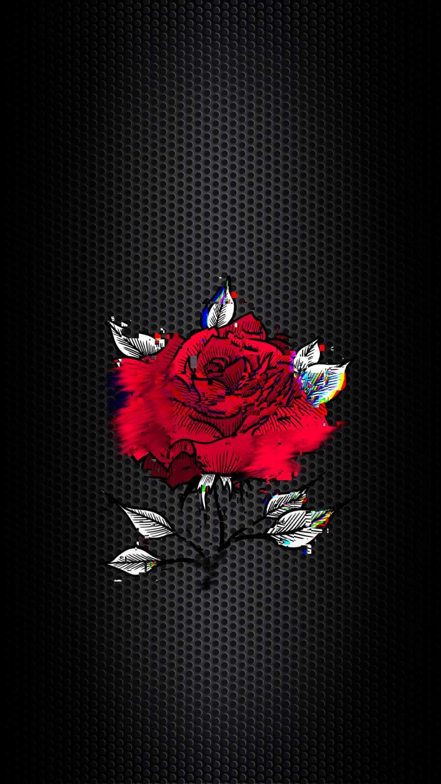 Glitch Rose iPhone Wallpaper