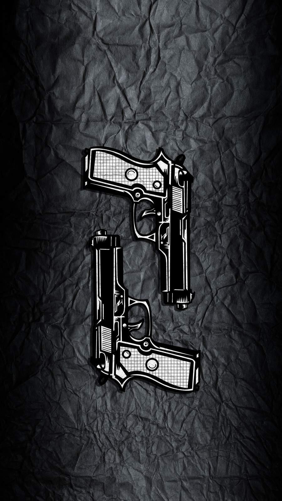 Guns Art iPhone Wallpaper