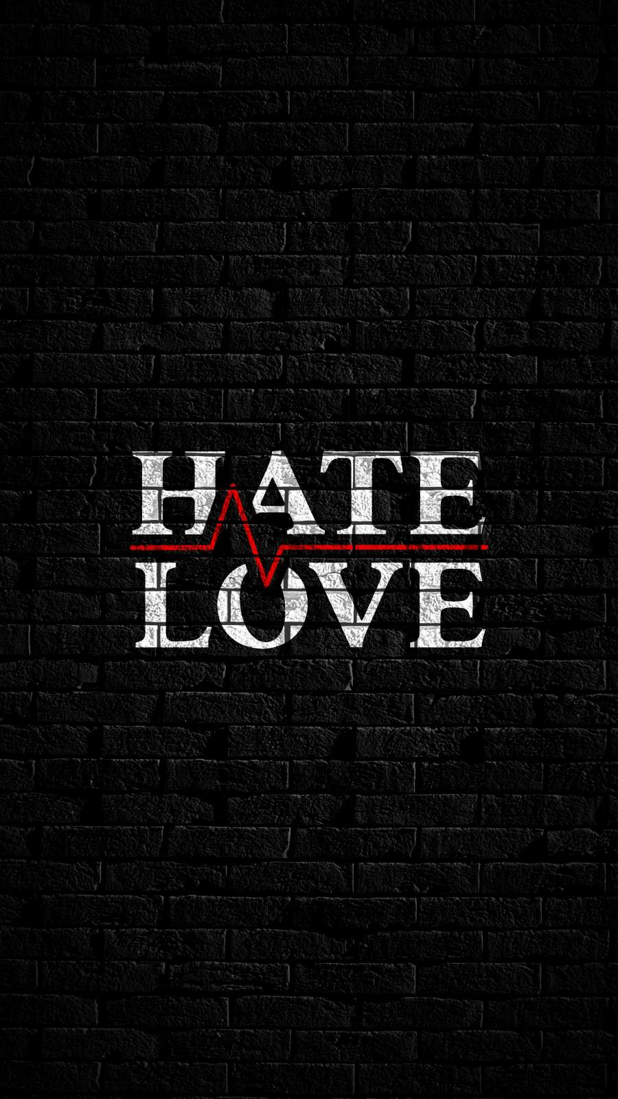 Love Hate iPhone Wallpaper