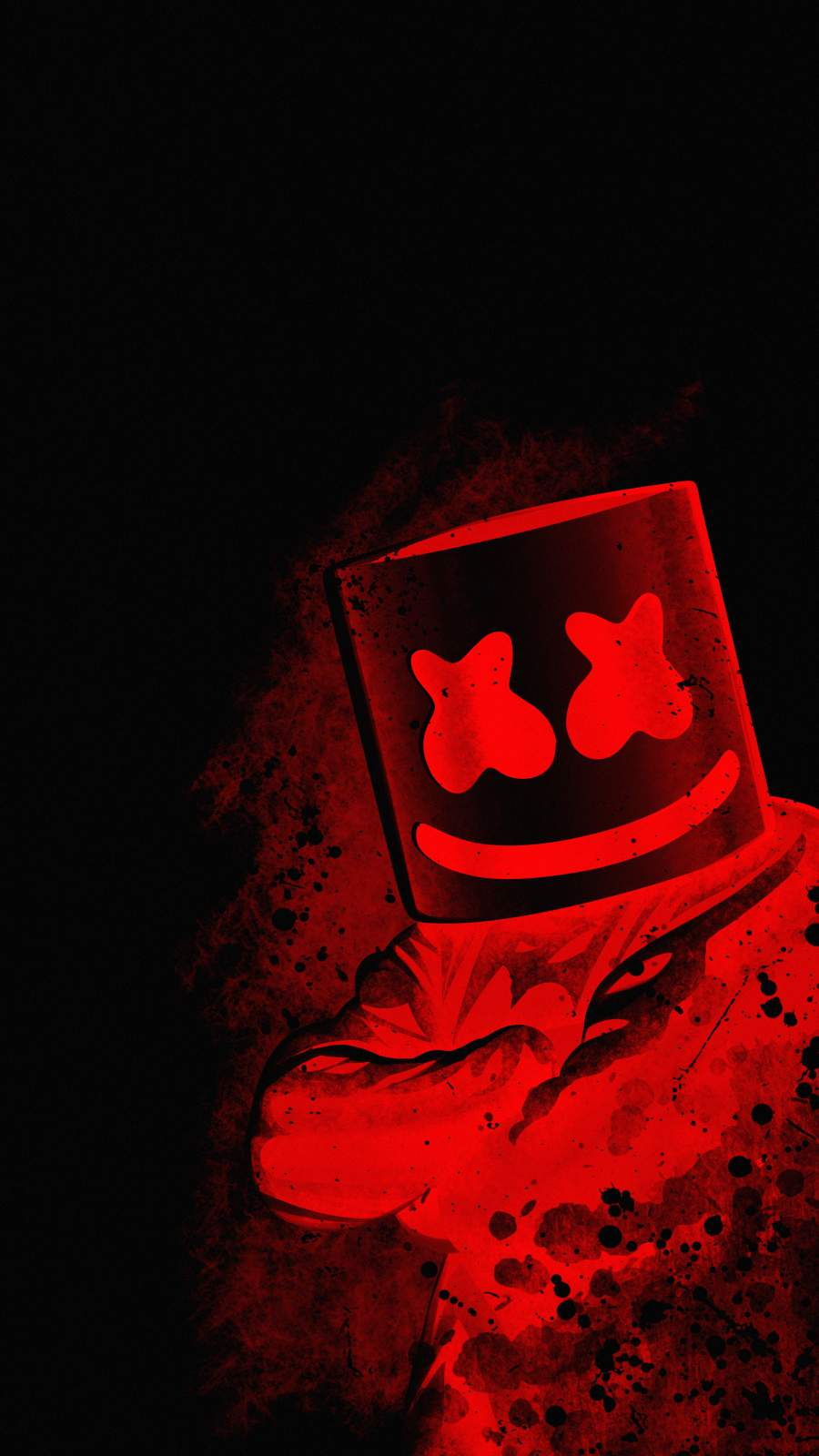 Marshmello Red iPhone Wallpaper