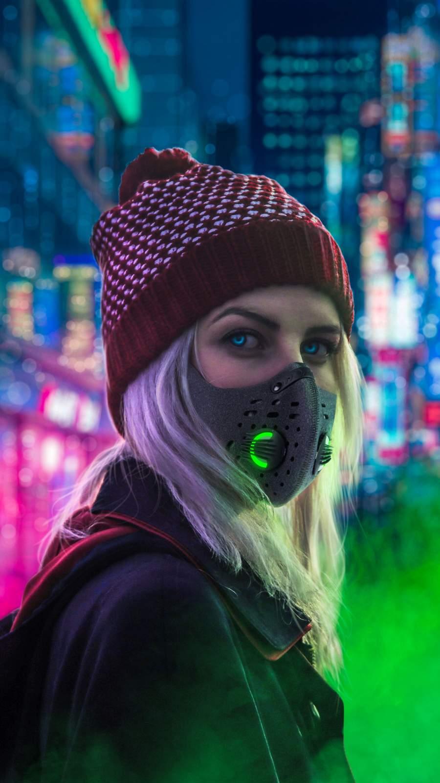 Masked Girl Cyberpunk