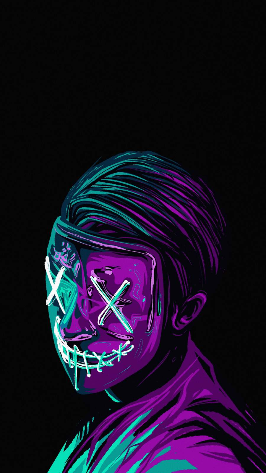 Masked Guy iPhone Wallpaper