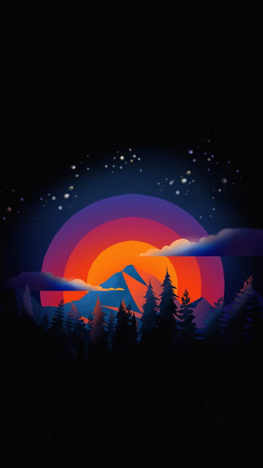 Minimal Nature Mountains iPhone Wallpaper