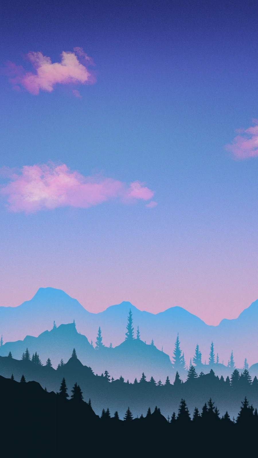 Minimal Nature Sunset iPhone Wallpaper