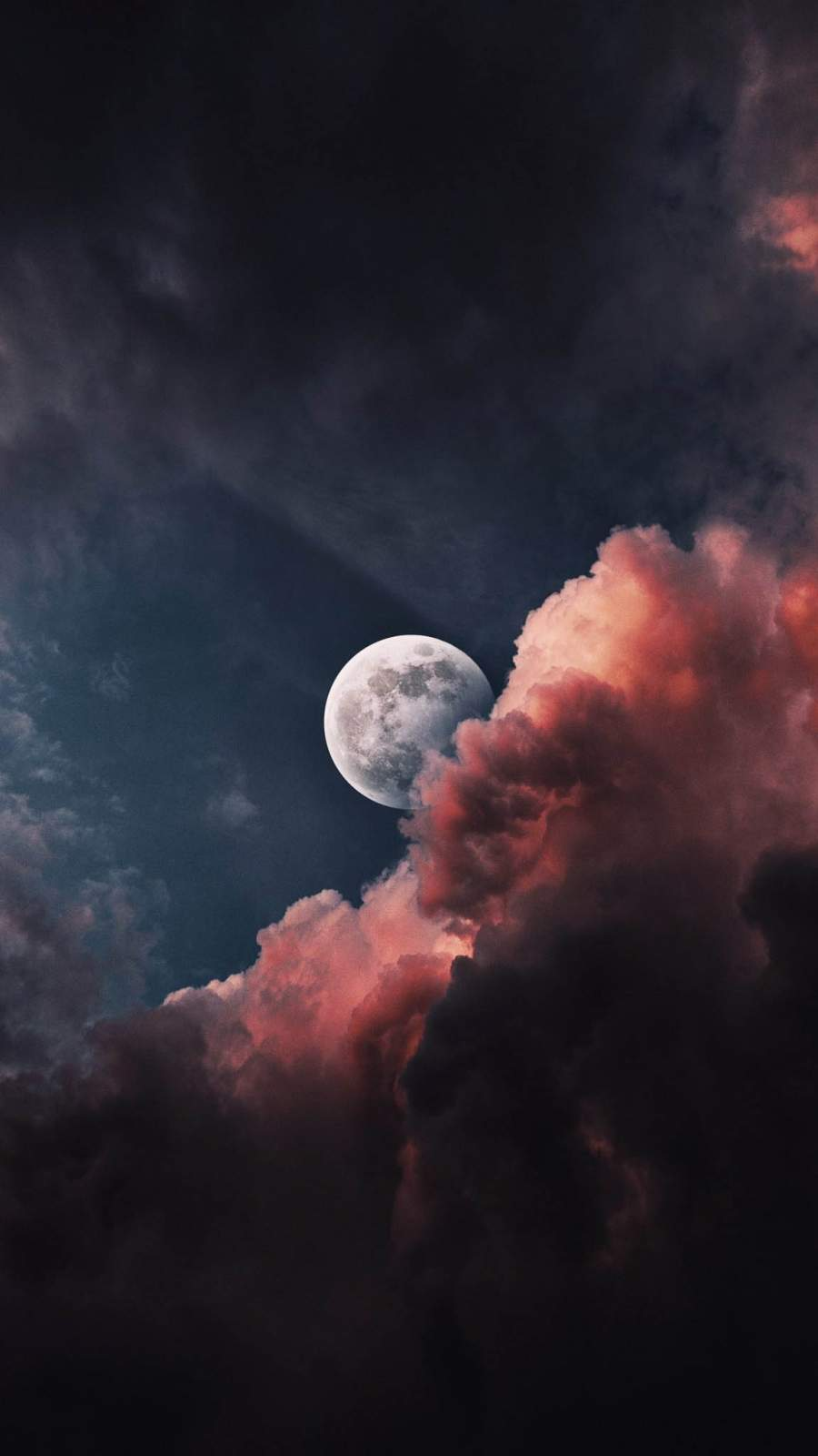 Moon Hiding in Clouds