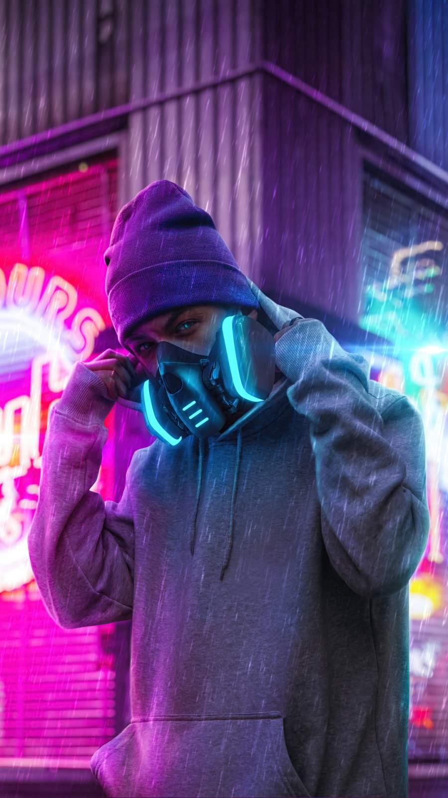 Neon Mask Boy