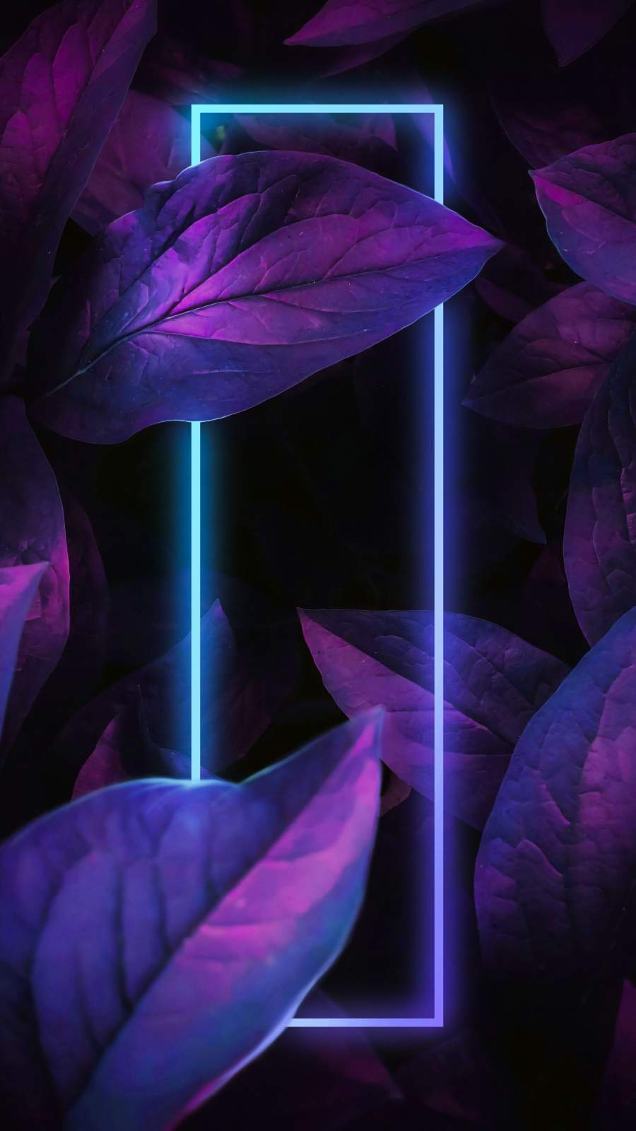 Neon Nature Art iPhone Wallpaper