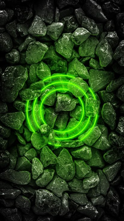 Neon Stone Green iPhone Wallpaper