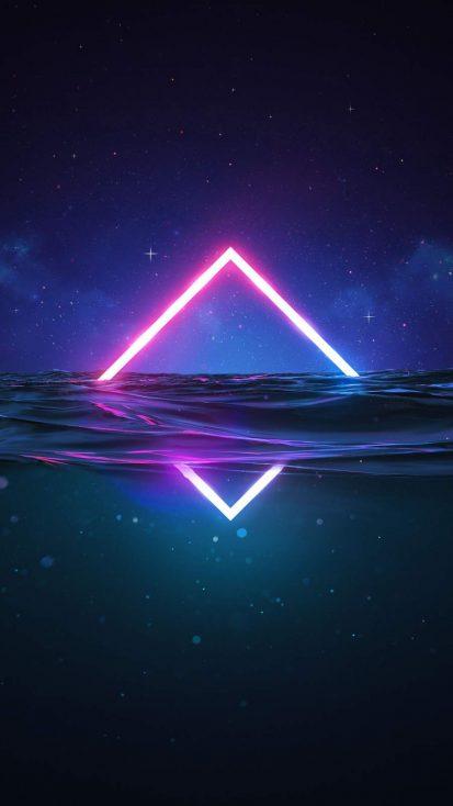 Neon in Water iPhone Wallpaper
