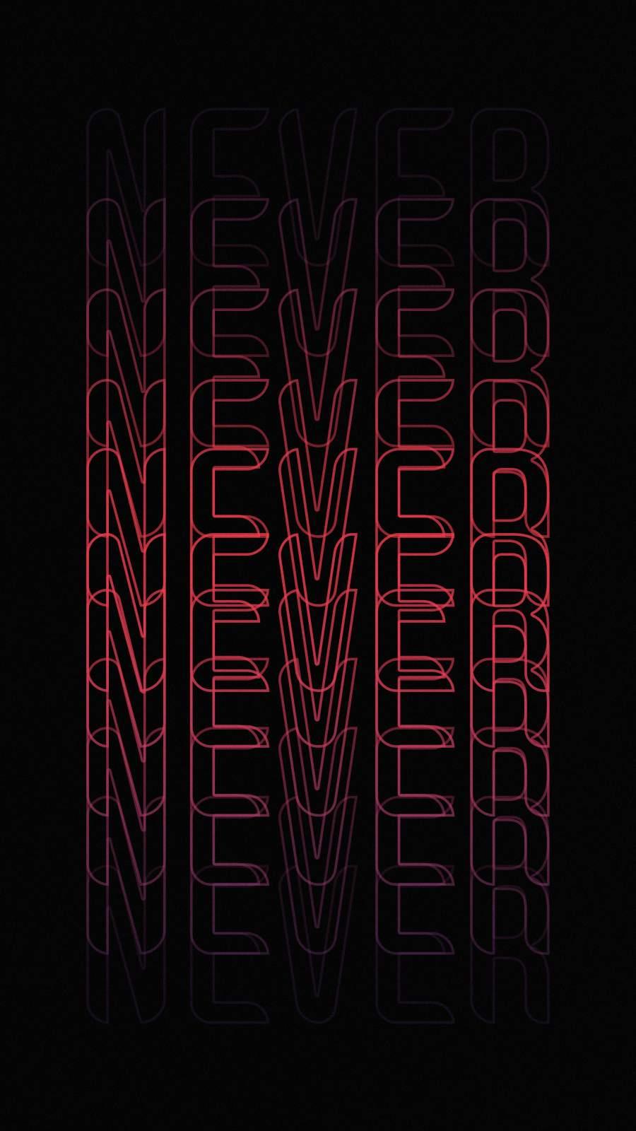 Never Surrender iPhone Wallpaper