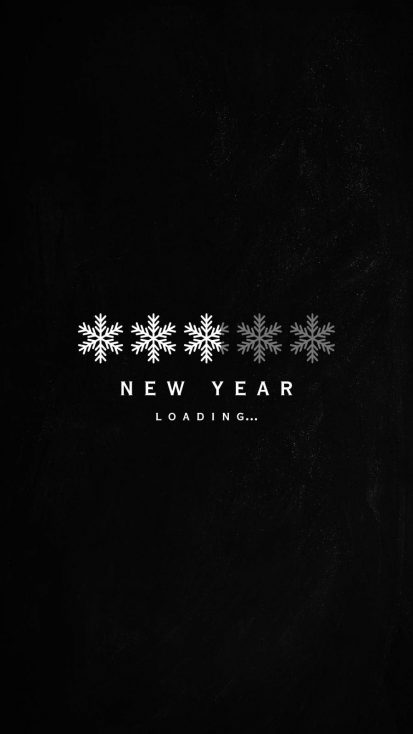 New Year Loading iPhone Wallpaper