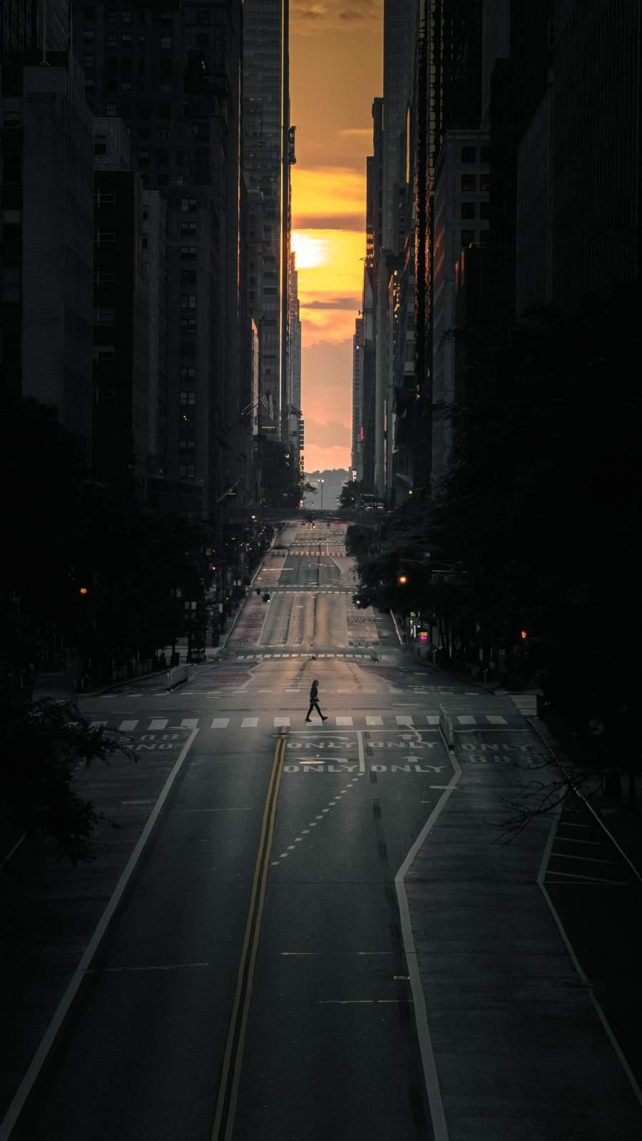 New York Sunset iPhone Wallpaper