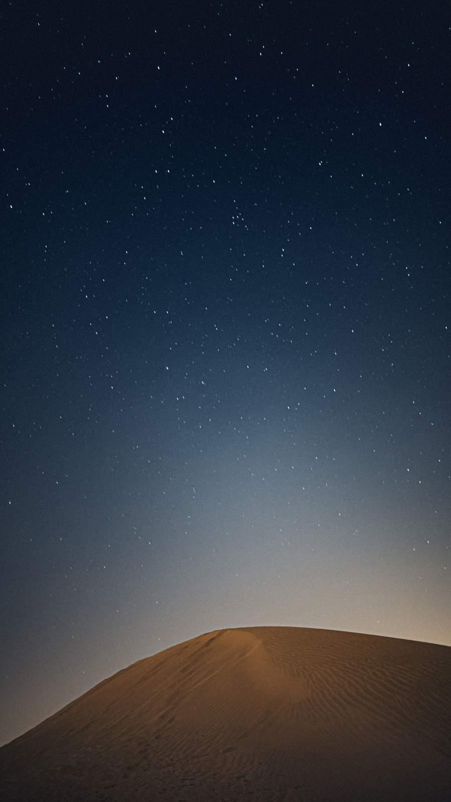 Night Desert Dune iPhone Wallpaper