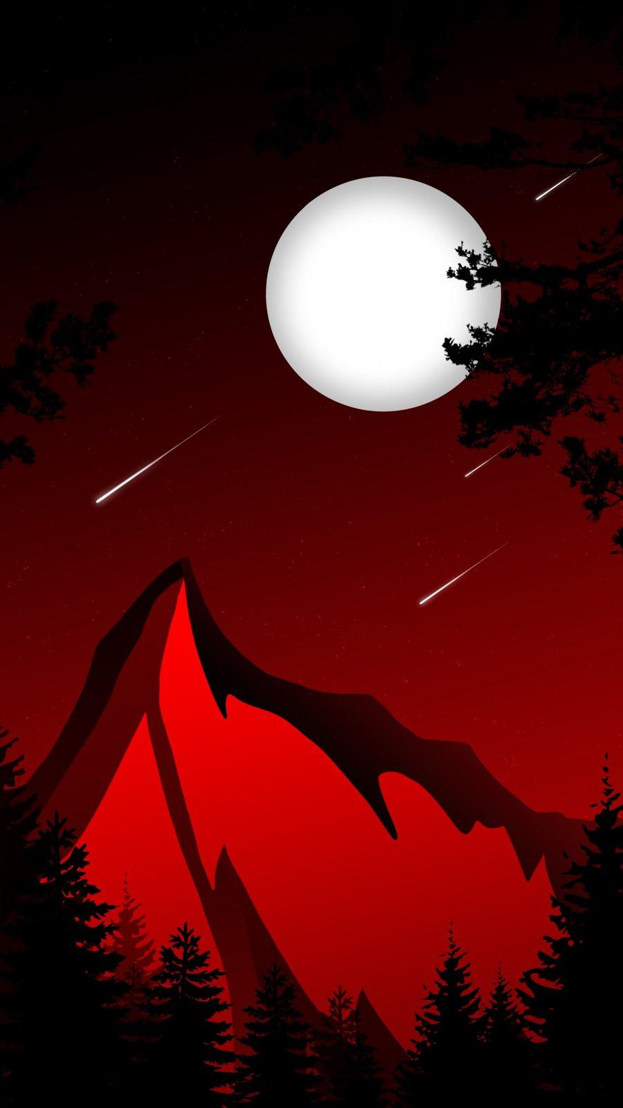 Night Moon Meteor Rain