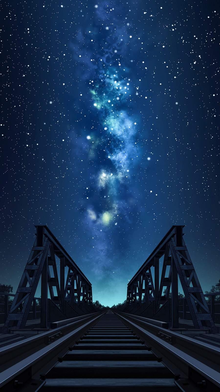 Night Stars Rail Road Bridge