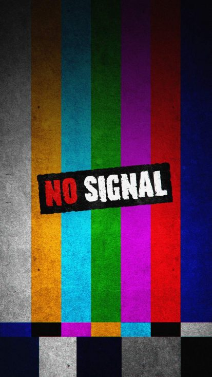 No Signal Screen iPhone Wallpaper