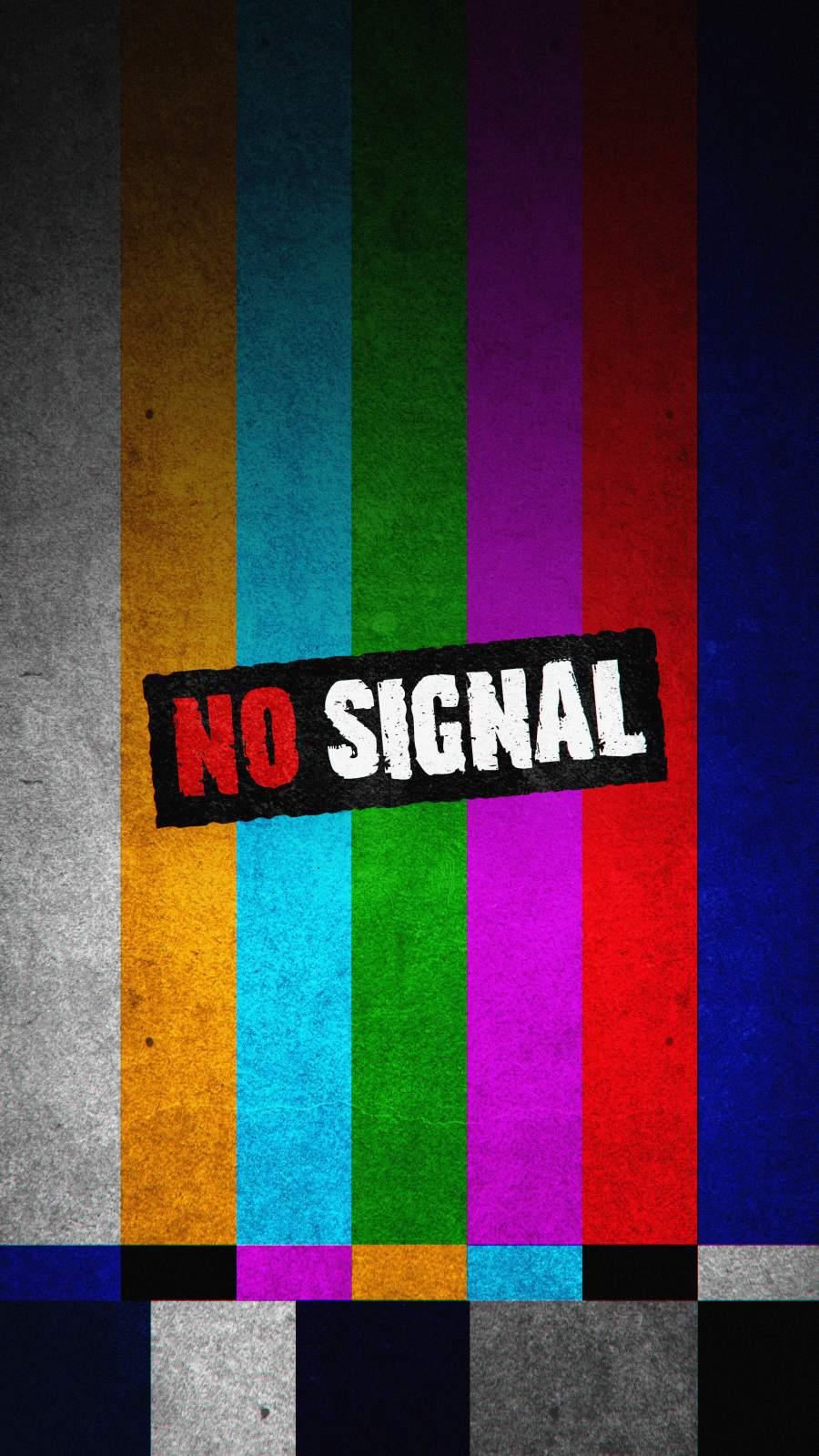 No Signal Screen iPhone Wallpaper