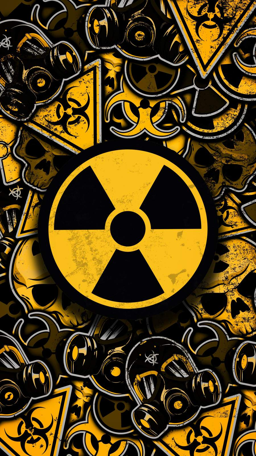 Nuclear Stickers iPhone Wallpaper
