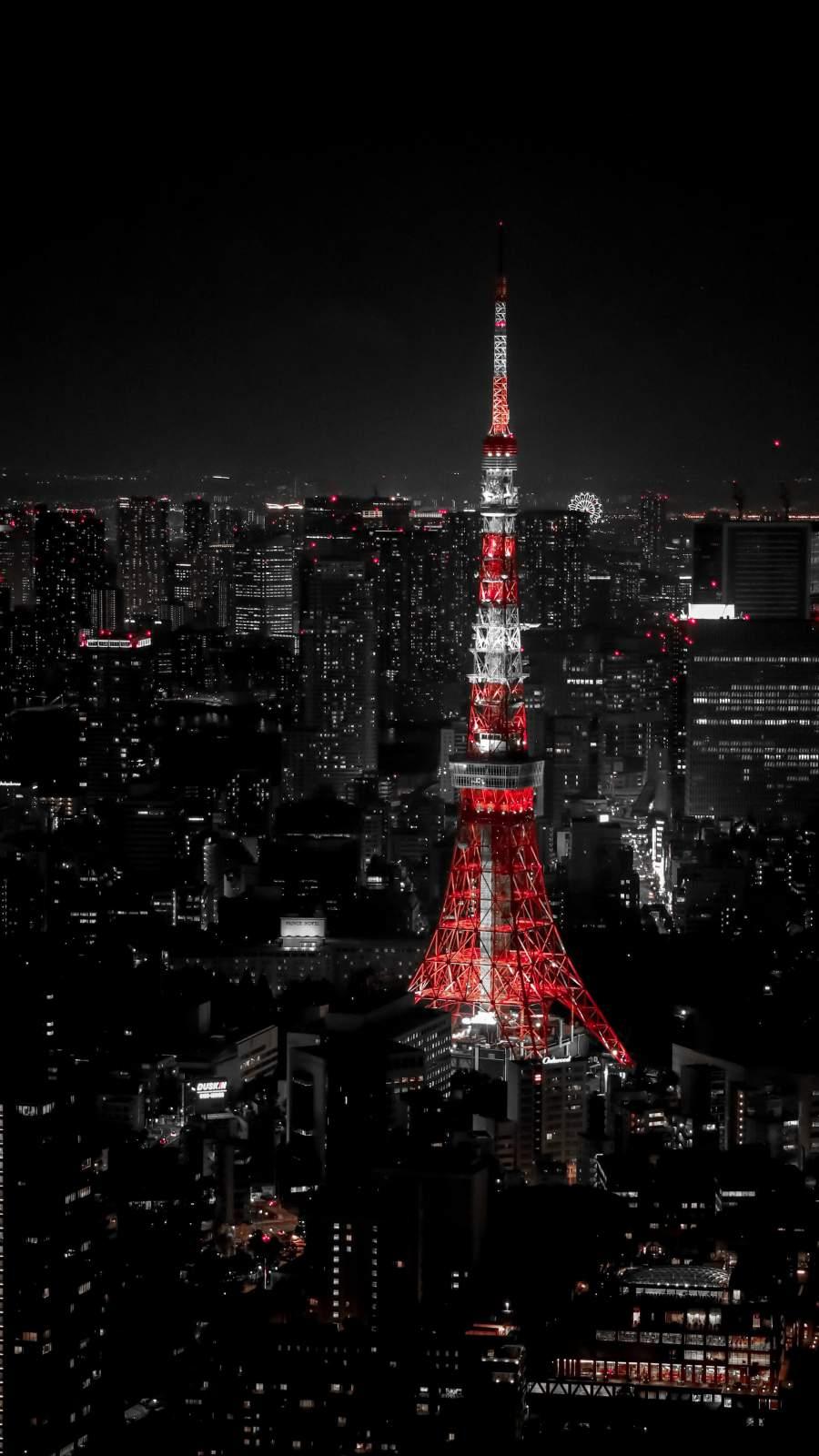 Paris Night Eiffel Tower iPhone Wallpaper