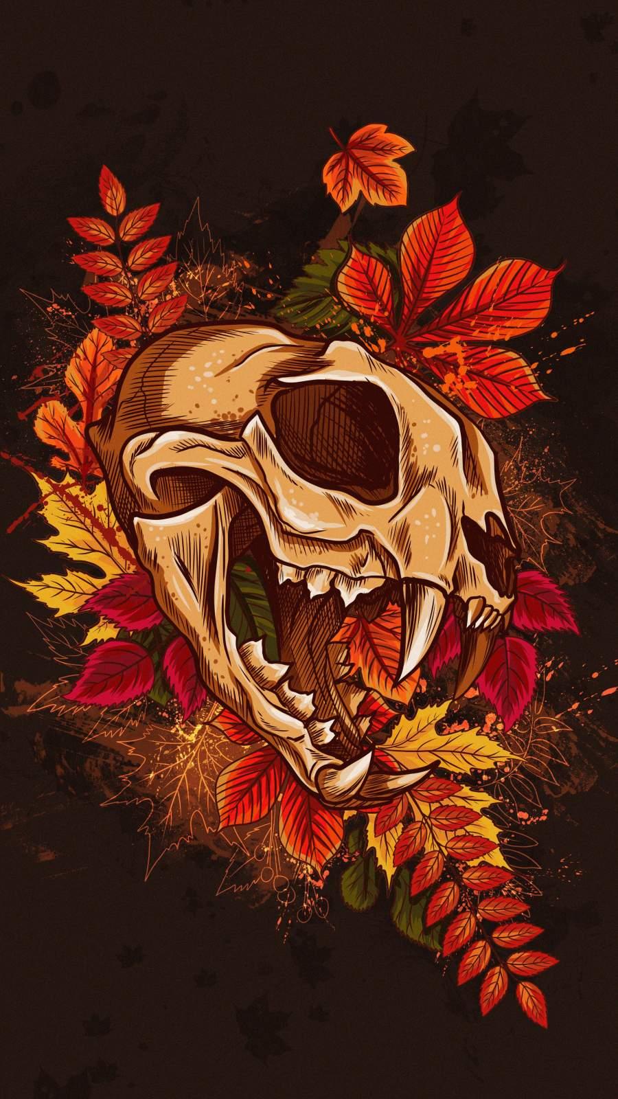 Predator Skull iPhone Wallpaper