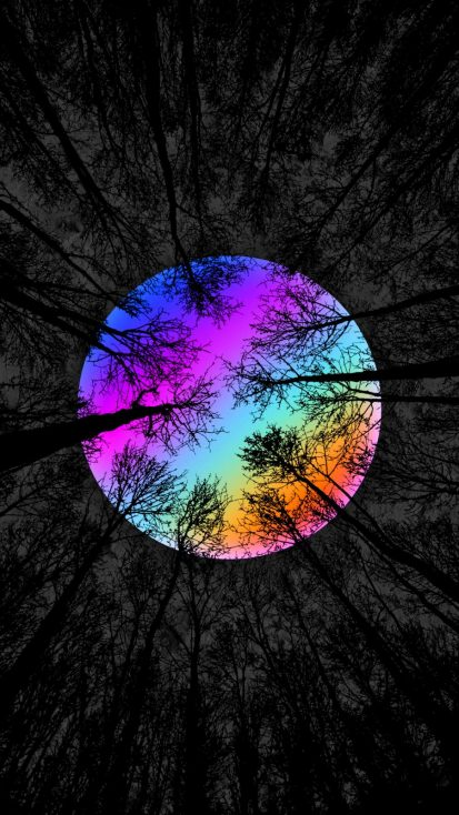 Rainbow Forest iPhone Wallpaper