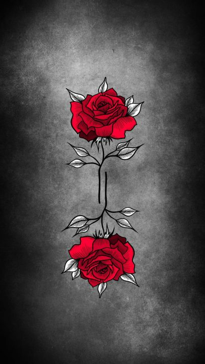 Red Rose Artwork iPhone Wallpaper