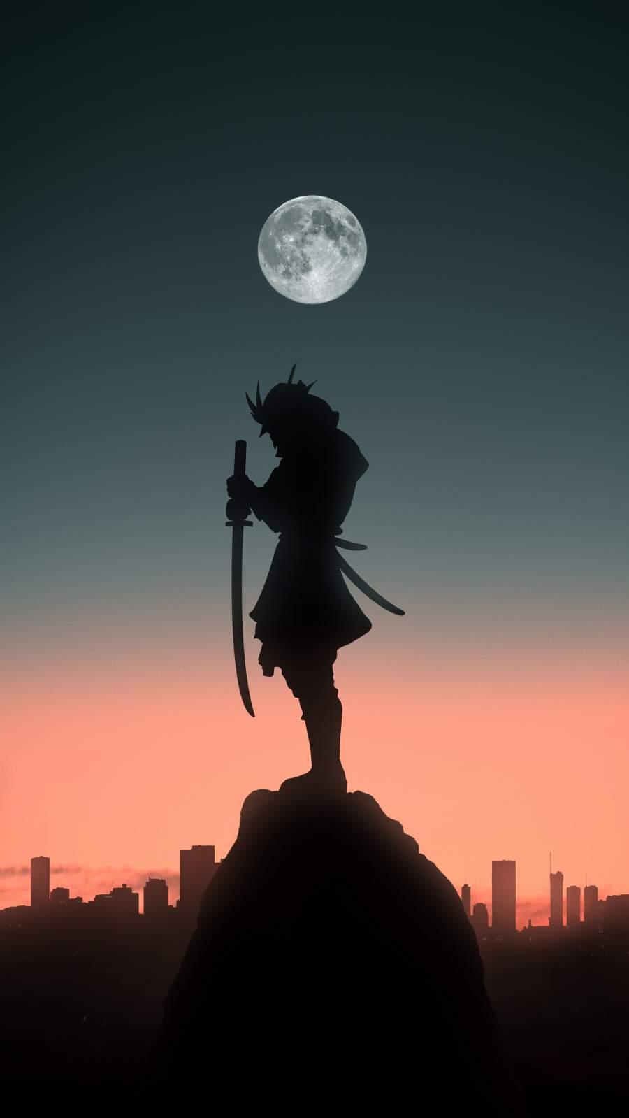 Samurai Silhouette iPhone Wallpaper