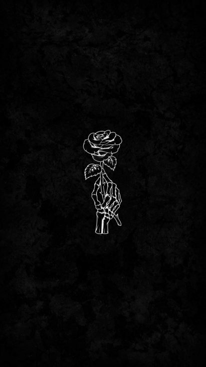 Skeleton Rose iPhone Wallpaper