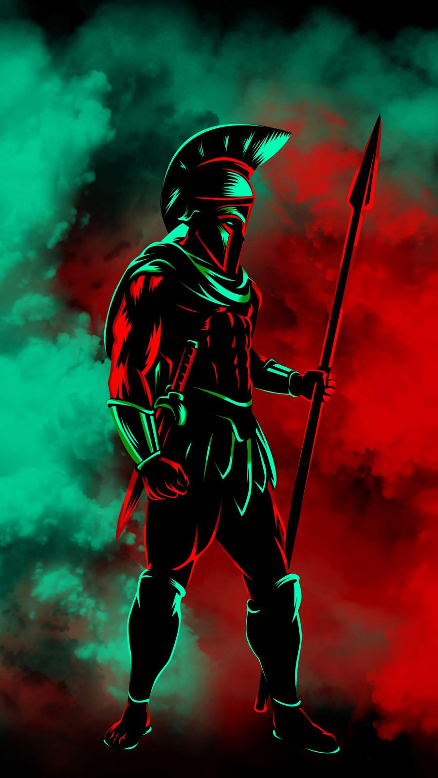 Spartan Warrior iPhone Wallpaper