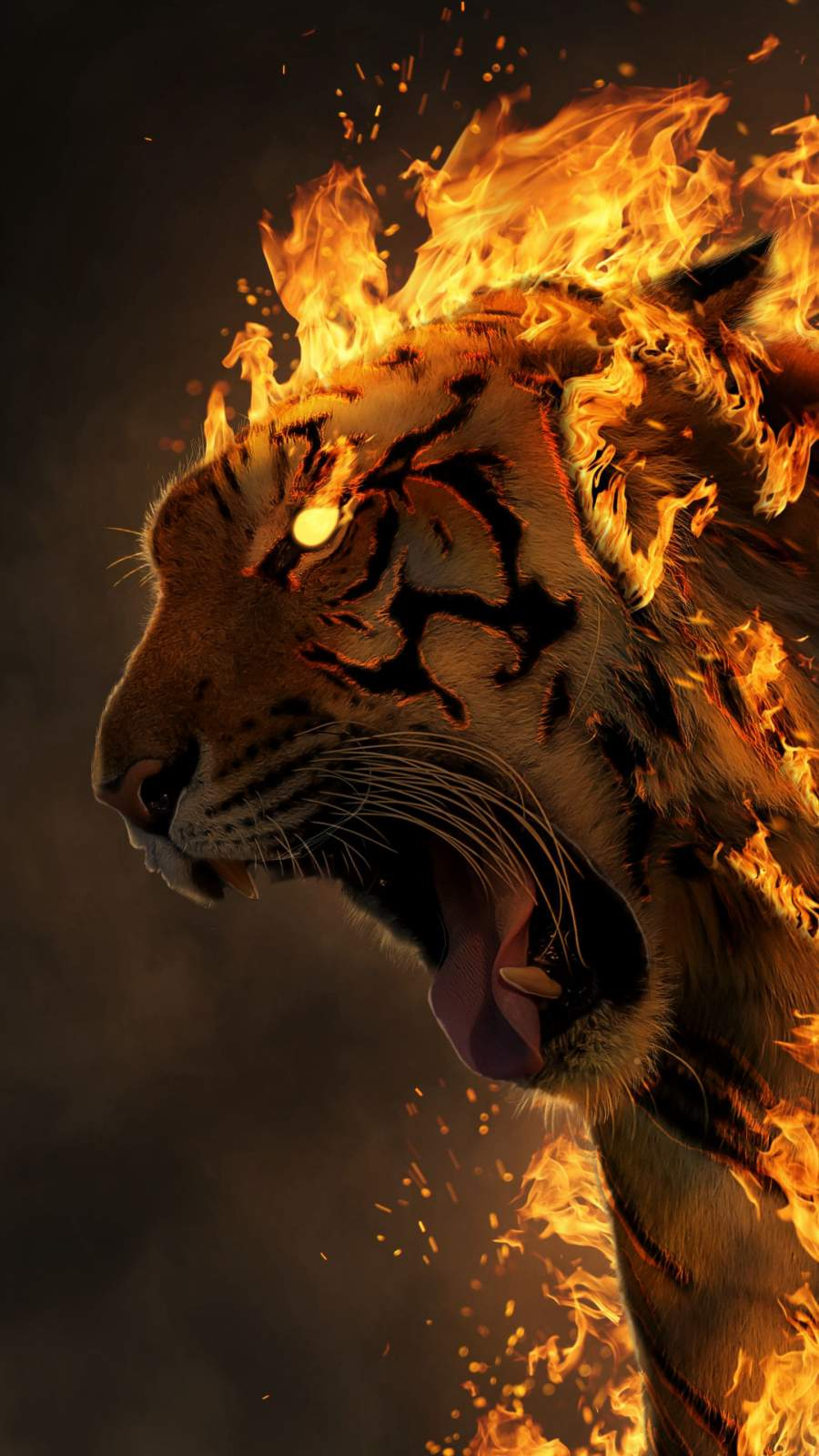 Tiger Rage iPhone Wallpaper