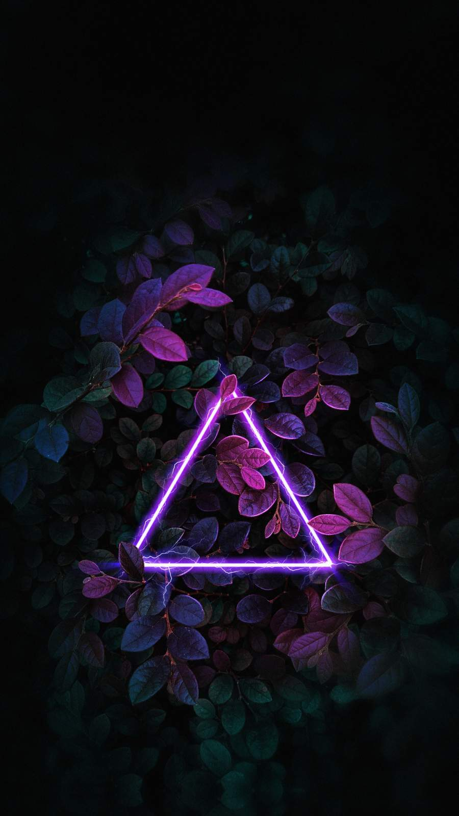 Triangle Neon Nature Foliage